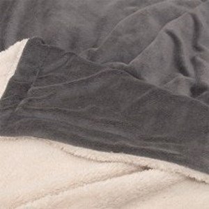 Plaid Lars Fleece Suede Dark Grey 150x200cm