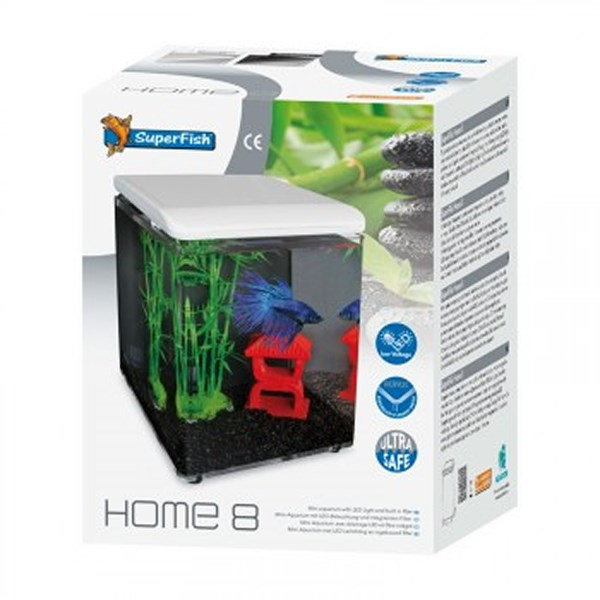 Superfish Home 8 mini Aquarium 8 liter