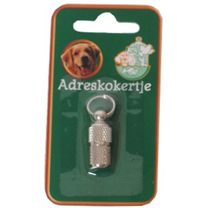 Adreskoker Chroom Hond 26 mm
