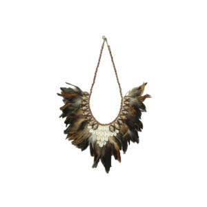 Ornament Feather natural 35x2x50cm