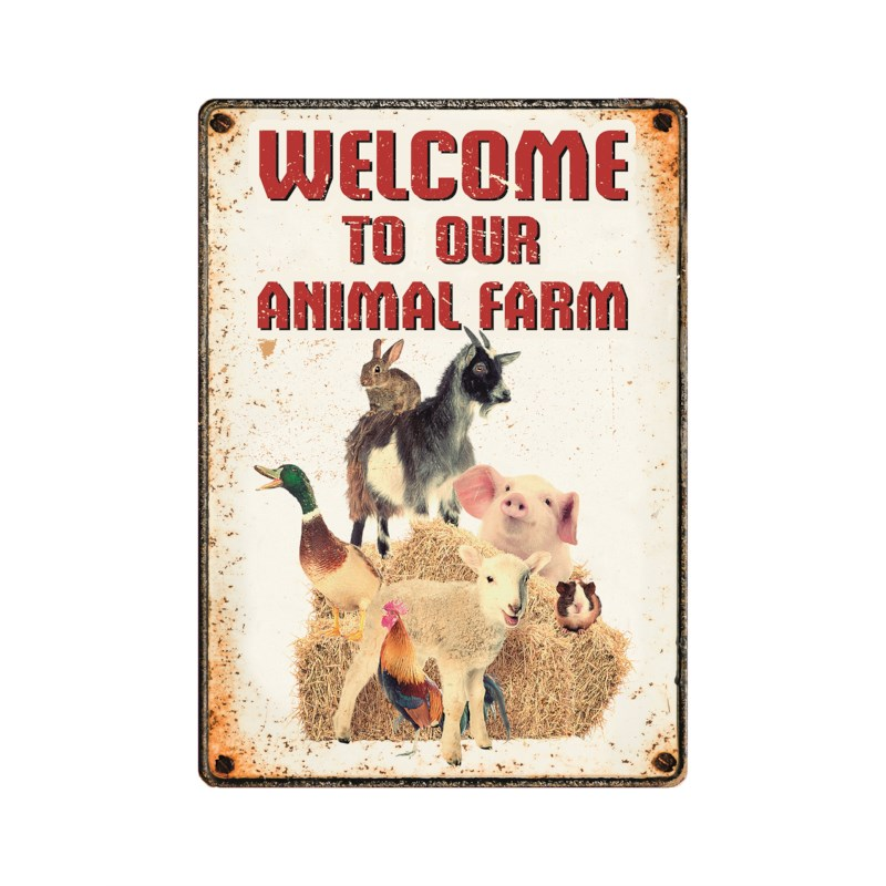 Bord Welcome to our farm