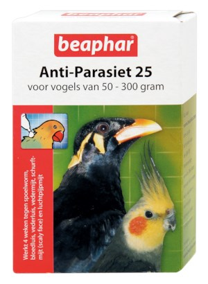 Beaphar Anti-Parasiet 25 Vogel 2 Pipets