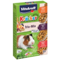 Vitakraft Kräcker Trio-Mix Honing/Noot/Fruit Cavia 3in1
